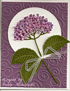 Hydrangea die and stamp from impression Obsession.