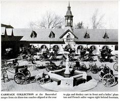 1955 Photo Anheuser-Busch Bauernhof Carriage Collection    This photograph for LIFE Magazine  May 2,1955 Issue by Margaret Bourke-White