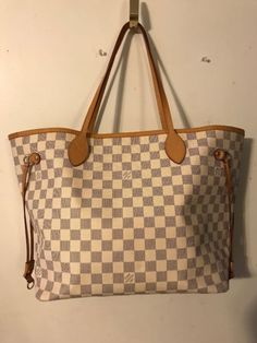 9f39f420a080 Authentic Louis Vuitton MM Azur Neverfull With Dustbag US seller! Find this  Pin and more on Designer Women Bags ...