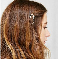 Joyci 1Pcs Dainty Pineapple Geometric Metal Hairpin Womens Side Clip Clamps Gold * You can get additional details at the image link.(This is an Amazon affiliate link and I receive a commission for the sales)