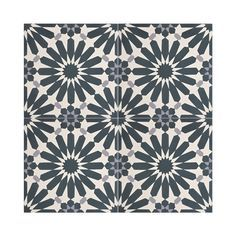Amlil Black and White Handmade Cement Moroccan Tiles (Morocco ...