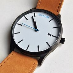 White/Black Tan Leather | MVMT Watches