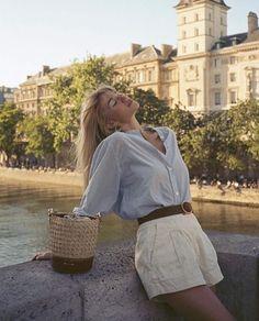 Parisian Summer, Parisian Chic Style, Chic Summer Style, Paris Chic, Vintage Summer Style, Chic Fashion Style, Paris Style, Parisian Fashion, Classy Style