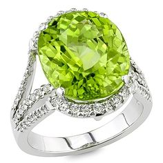 Dessert Flower. Ring. Gold. Lime tourmaline and diamonds. More @ www.davidwein.com and #jewelry