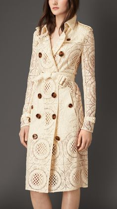 Floral English Lace Trench Coat | Burberry