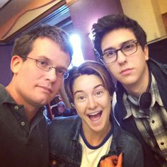 John Green, Shailene Woodley, and Nat Wolff... I'M SO EXCITED FOR THIS MOVIE! X3