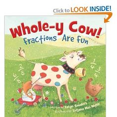 Whole-y Cow book about fractions
