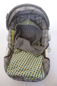 Flannel Print Infant Carseat Swaddle Blanket with by DesignsbyRomy, $35.00