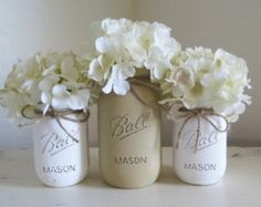 Pink and Gold Mason Jar Centerpieces Baby Shower by MyHeartByHand