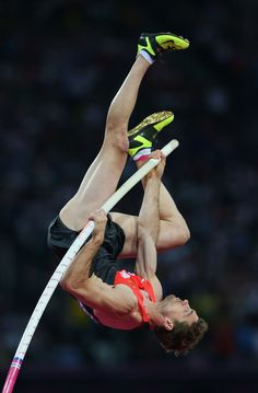 Bjorn Otto of Germany competes during the Men's Pole Vault Final on Day 14 of the London 2012 Olympic Games at Olympic Stadium on August 10, 2012 in London, England. (673×1024)