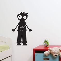 so fun! a chalkboard vinyl decal - great for a kids room.