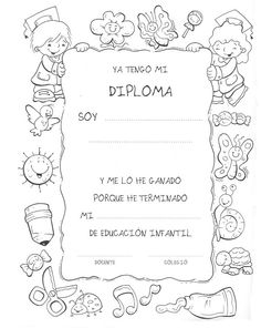 En un rincón de mi aula de Infantil: Diplomas Fin de Curso