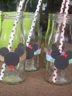 Dekoration - Mini Milchflasche Minnie oder Mickey Mouse Deko - ein Designerstück…