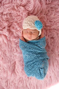 Crochet Newborn Photography Prop Baby Girl hat Lacey by AllHookdUp