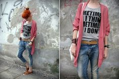 They say salmon, I say pink. (by Ferret X) http://lookbook.nu/look/3684063-They-say-salmon-I-say-pink