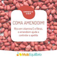 Você sabia que o amendoim pode ser um aliado para a sua dieta, se consumido com moderação? http://maisequilibrio.com.br/nutricao/esclareca-5-duvidas-sobre-o-amendoim-2-1-1-750.html