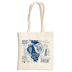 Illustrated Stateside Tote - all cotton and only $5 at madewell.com