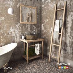 Όταν το #homedécor αντλεί έμπνευση από τη φύση.. Photo: Έπιπλα Μπάνιου «Village», κατασκευασμένα από μασίφ δρυ. #porcelana #bathroom #furniture