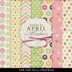 Far Far Hill: New Freebies Kit of Background - April Meadows