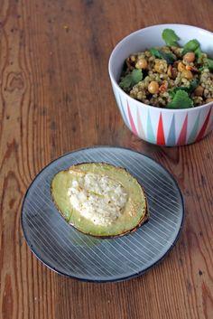 Gebackene Avocado mit Feta