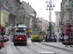 City street of Miskolc