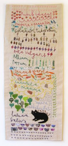 Vicky Lindo garden embroidery.