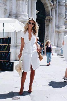 Beyaz Gömlek Elbise Modelleri ve Kombinler 2018 (7) - Güzelkız.com