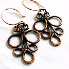 Wire Jewelry Motif Design Antiqued Copper Jewelry by KariLuJewelry, $23.00