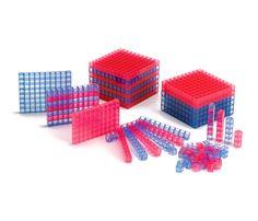 Base 10 plástico translúcido