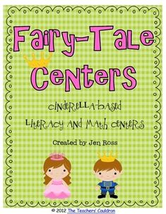 $6.00 This unit is 80 pages of Cinderella-based centers!There are so many books out there to use with these centers!!There are reading response act...