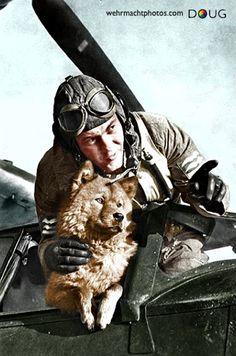 Oberleutnant with Chow Chow - Dornier Do18