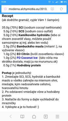 Soap Recipes, Shampoo, Cream, Natural, Creme Caramel, Nature, Au Natural
