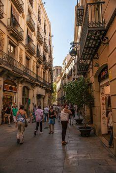 Gothic quarter, Barri Gotic, Barcelona   Catalonia