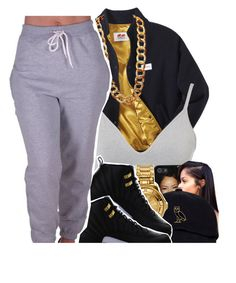 """""""Gold"""" by xbad-gyalx ❤ liked on Polyvore featuring Twins For Peace, DKNY, Versus, NIKE, Coach and CO"""