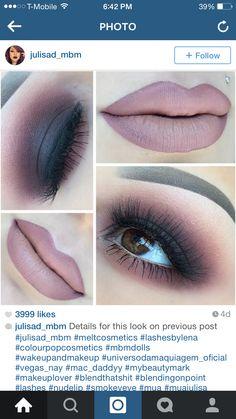@julisad_mbm - Black and plum smokey eye. I love this combo. Nude lip is perfect.