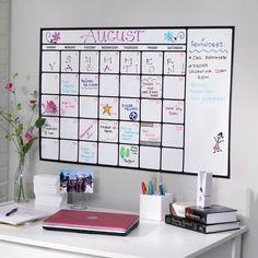 Dry-Erase Calendar Decal