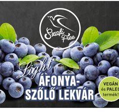 SZAFI FREE ÁFONYA-SZŐLŐ LEKVÁR 350G - Akcióláz foka 17 - Kedvezmény mértéke 6.6% - www.akciolaz.hu Blueberry, Free, Vegan, Berry, Vegans, Blueberries