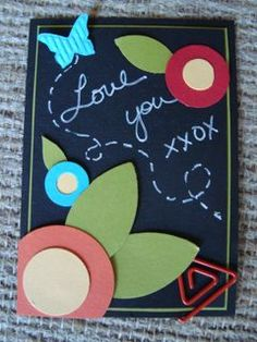 ATC Chalkboard and Flowers