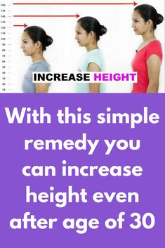 With this simple remedy you can increase height even after age of 30 Increase Height Exercise, Tips To Increase Height, How To Get Tall, How To Grow Taller, Acne Remedies, Health Remedies, Natural Remedies, Grow Taller Exercises, Height Growth