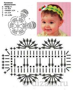 Crochet Crown - Her Crochet Crochet Crown, Crochet Headband Pattern, Crochet Diy, Crochet Baby Hats, Crochet Chart, Crochet Motif, Crochet For Kids, Crochet Flowers, Crochet Stitches
