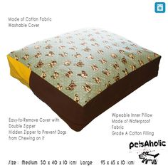 French Bulldog Pillow Bed - Blue   Hemp - Medium ** Quickly view this special dog product, click the image : Pet dog bedding