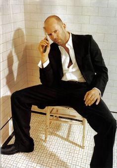 Jason Statham- may be my #1 star crush. Something about that suit, bald head and gun...