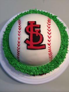 St Louis Cardinals Cake Decorating Icing Sport Cakes 1st Birthday