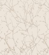Calabria Tree Ivory/Silver Heavy weight vinyl wallpaper from Rasch's Elegance Collection. Simple delicate branch design with metallic silver highlights. Silver Birch Wallpaper, Glitter Wallpaper, Vinyl Wallpaper, Cool Wallpaper, Romo Fabrics, Upholstery Fabrics, Silver Highlights, Wallpaper Online, Fabric Textures