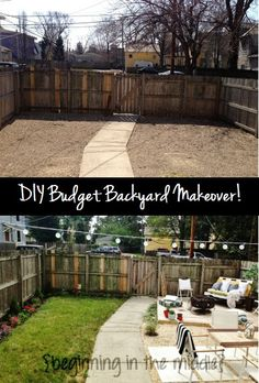 Budget Backyard Makeover with New Deck, Patio and Lawn!
