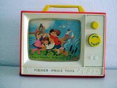 Vintage Toy TV.    Fisher Price-London Bridge.