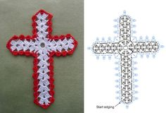 Diy Crafts - Picture of Cross Bookmarks in Thread Crochet Pattern Marque-pages Au Crochet, Crochet Motifs, Easter Crochet, Crochet Cross, Thread Crochet, Crochet Gifts, Crochet Stitches, Crochet Bookmark Pattern, Crochet Bookmarks