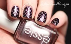 Nail stamping over Nicole by OPI Show You Care