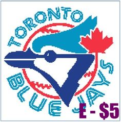 EASY PATTERNS: Toronto Blue Jays cross-stitch pattern