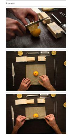 Tarjetas de visita al limón. Receta.